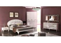 На фото Спальня Империя глянец белый