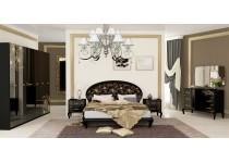 На фото Спальня Пиония глянец черный