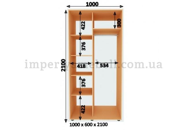 На фото Шкаф-купе 2-х дверный Стандарт 600/2100