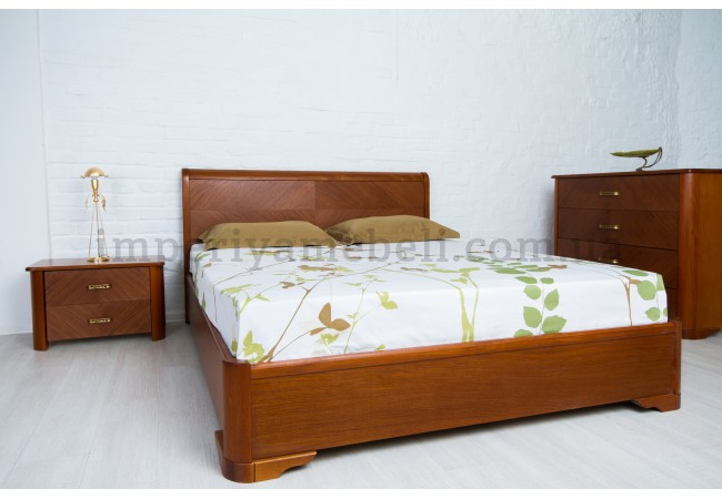 На фото Кровать  Милена с интарсией