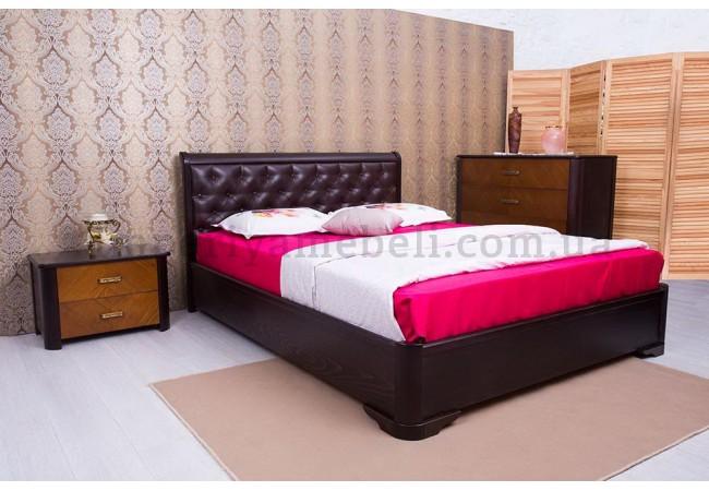 На фото Кровать  Милена с мягкой спинкой ромбы